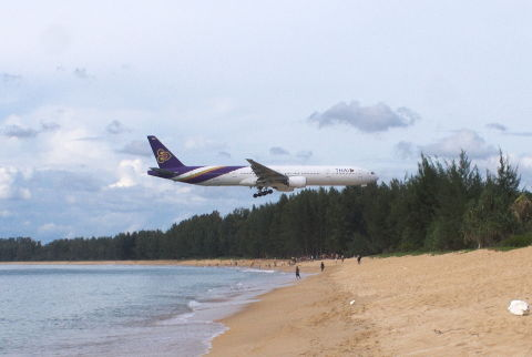Fly over Mai Khao Beach